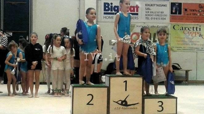 Tre ori, un argento e due bronzi all\' ASD ArteGinnastica nella prima prova CSEN
