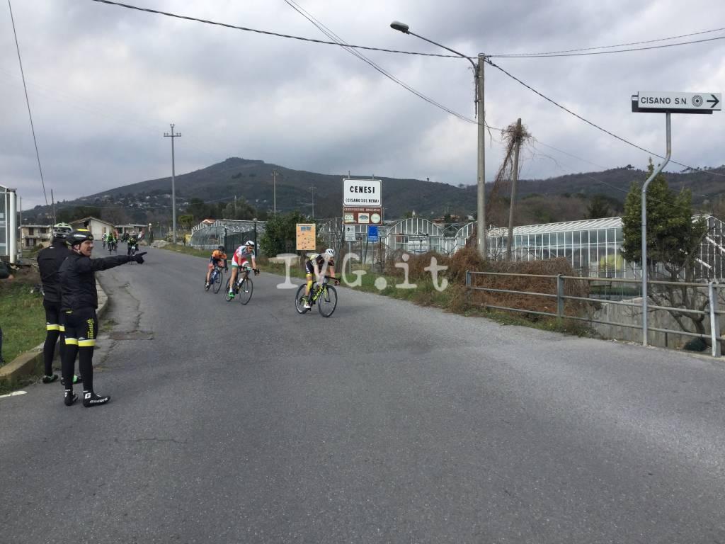 Granfondo di Loano il passaggio a Cenesi