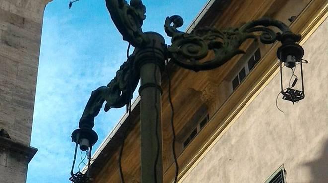 lampioni piazza mazzini chiavari