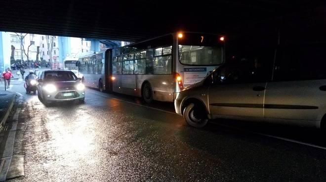 Malore sul bus a Brin