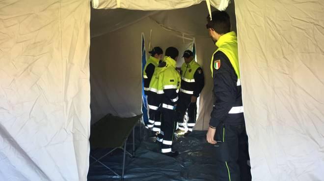 protezione civile boissano toirano loano montaggio tende