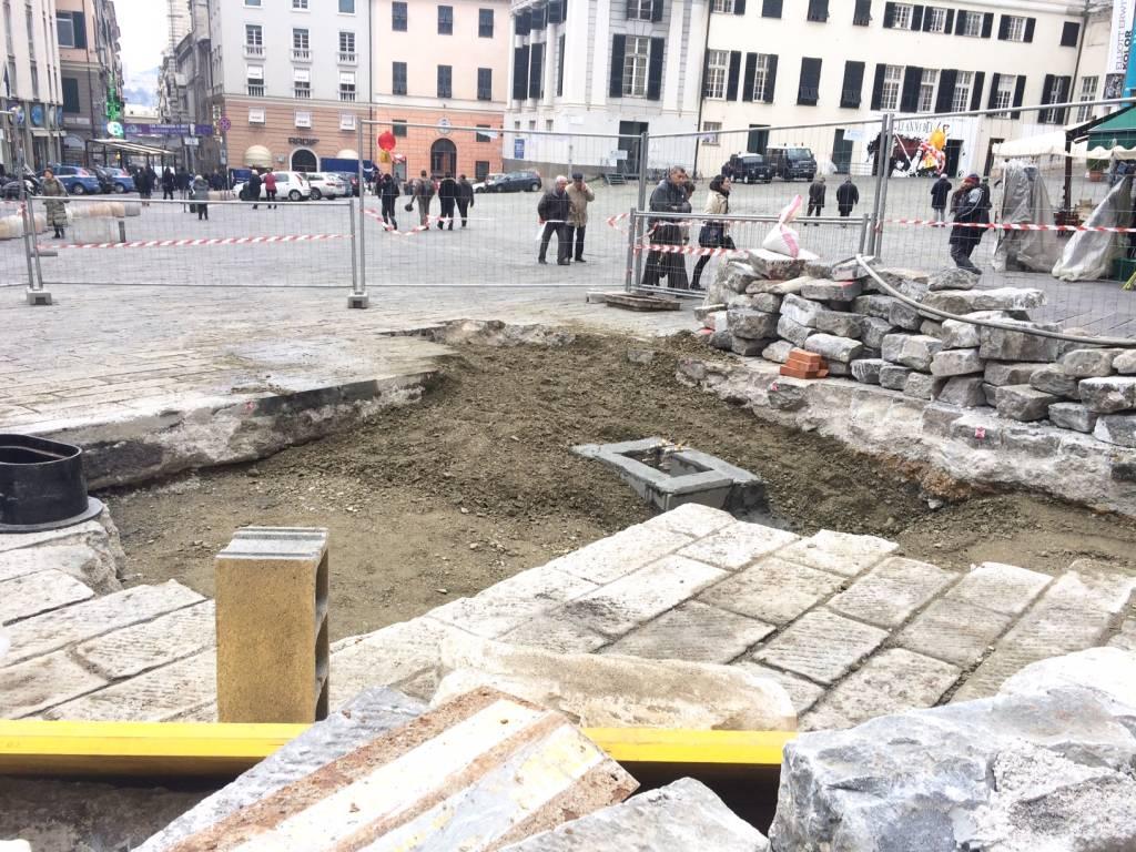 resti romani piazza matteotti