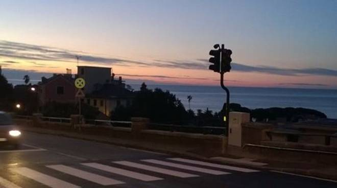 Semaforo in via Donato Somma