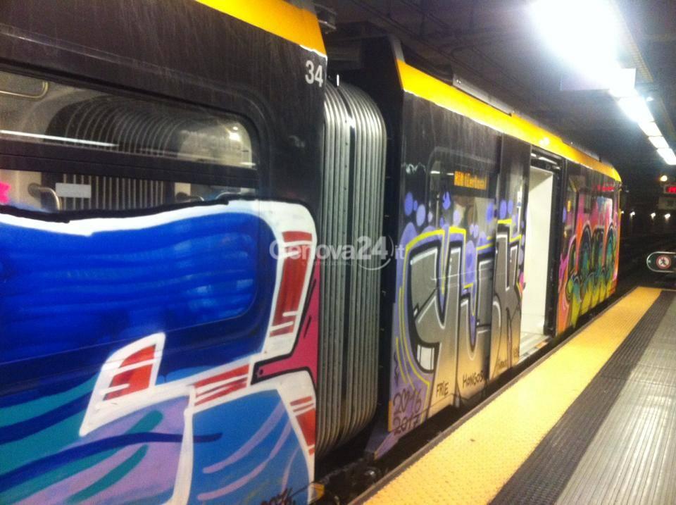 Treno metropolitana deturbato