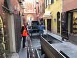 Loano Lavori Pavimento via Cavour