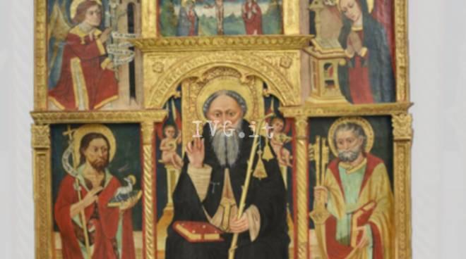 Presentazione del restauro del Polittico di Sant'Antonio Abate appartenente alla parrocchiale di Ubaga (Borghetto d'Arroscia – IM)