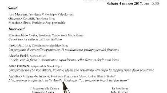 "Convegno \""Movimento Scout e antifascismo\"""