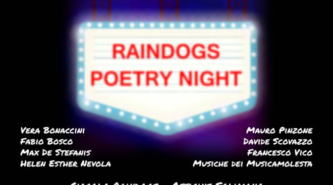 Sabato sera: The Saturday Raindogs Poetry Night