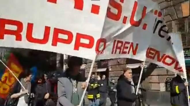 Corteo dei lavoratori Iren