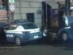 Incidente tra volanti della polizia