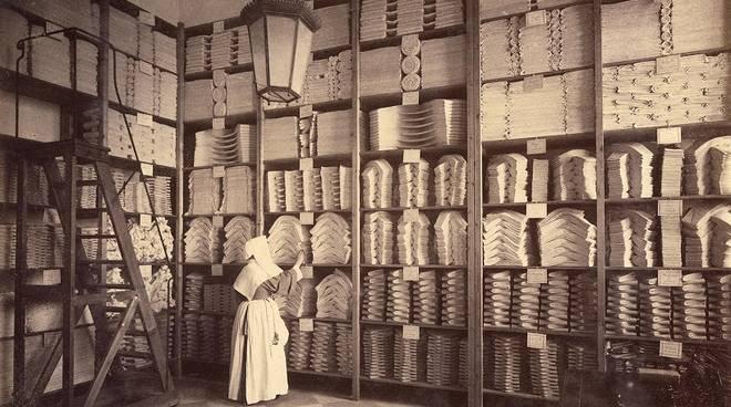 Magazzino biancheria del Galliera alla fine del 1800