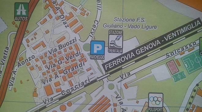 mappa vado ligure stazione giuliano