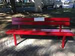 Panchina rossa a Chiavari