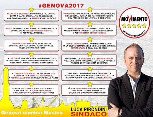Pirondini (M5s), conquistiamo Genova