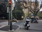Semafori in piazza Manin