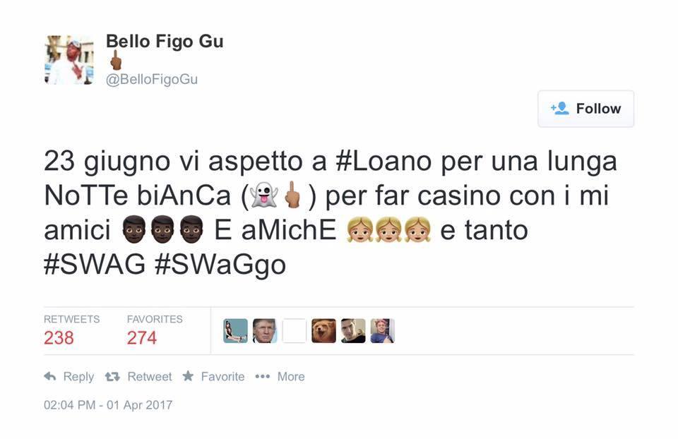 bello figo tweet loano
