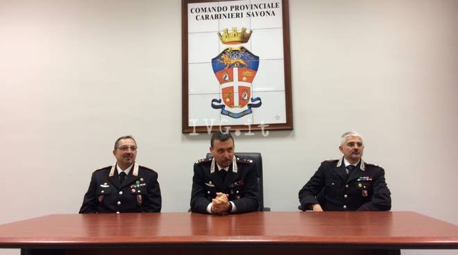 Carabinieri savona Dionisio de masi Dario Ragusa franco laino