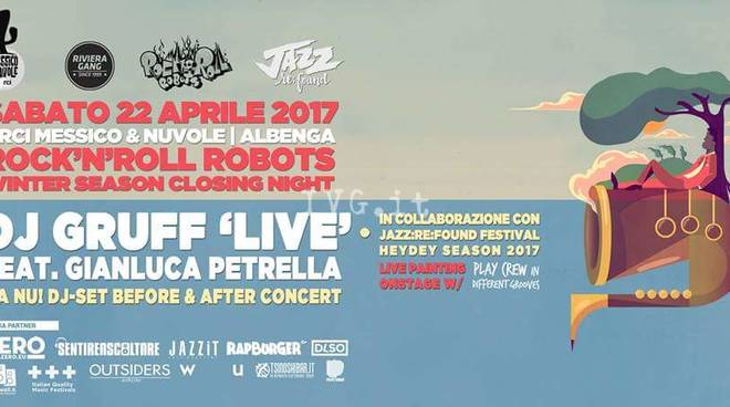 Sabato al Messico & nuvole di Albenga: Rock\'n\'roll robots winter season closing night