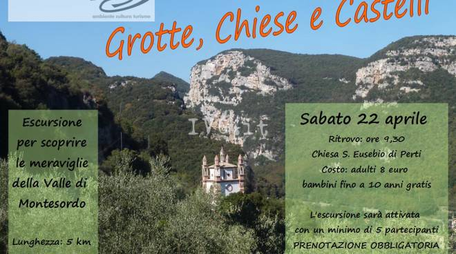 Grotte, chiese e castelli