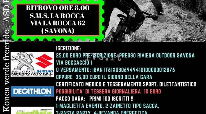 Savona, domenica 30 aprile: prima Gara Enduro Konca Verde