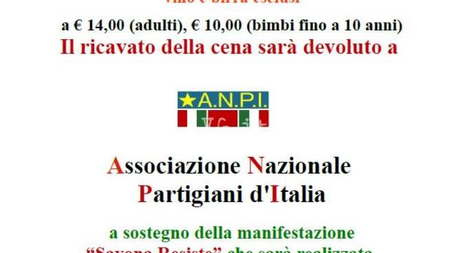 Domani sera alla SMS Cantagalletto: serata di finanziamento  della festa 25 aprile Savona R-Esiste sul Priamar