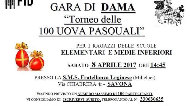"""Sabato alla SMS F. Leginese \""""Milleluci\"""": gara di dama delle 100 uova di Pasqua - 14° Memorial Risso"""