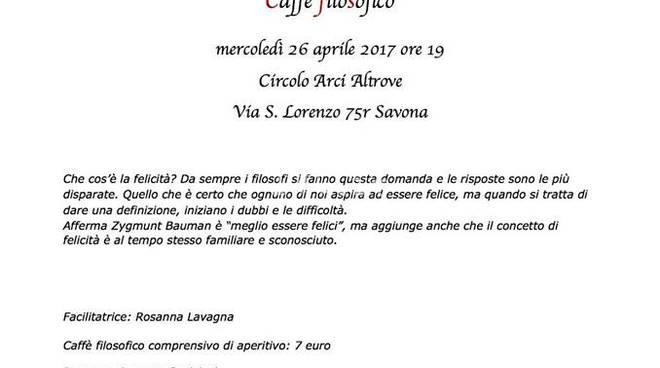 Stasera: ritorna il Caffè Filosofico al Circolo Al.Trove di Savona