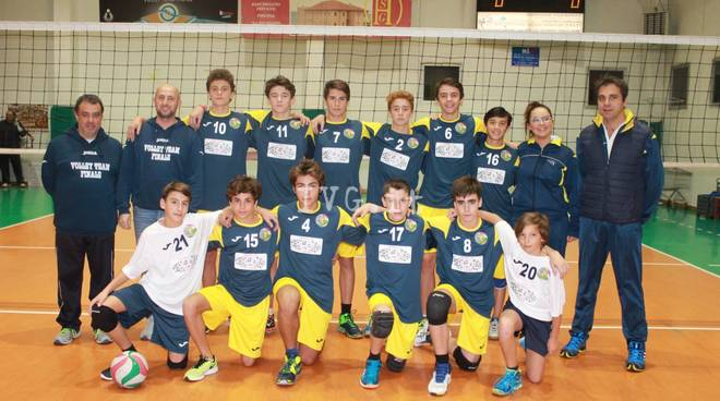 U16M vincente contro l\' Albisola Blu Volley Team