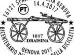 francobollo bicicletta