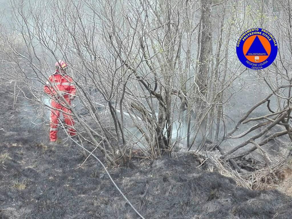 incendio piani di praglia pasquetta 2017