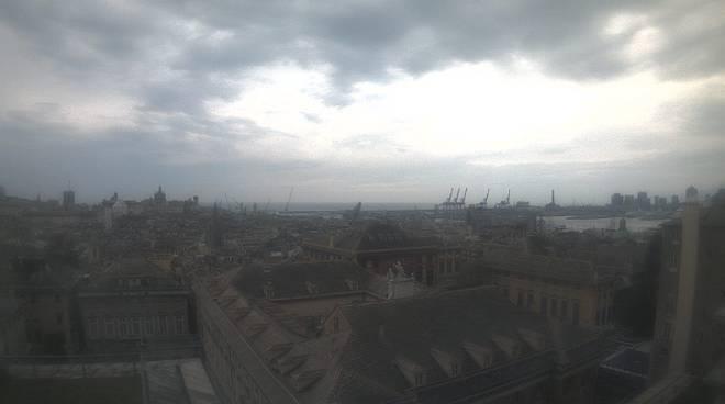 Nuvole sul centro di Genova