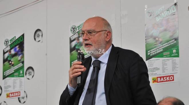 Premio Gambaro 2017 La societa Angelo Baiardo Premia Antonio Gozzi Presidente Virtus Entella