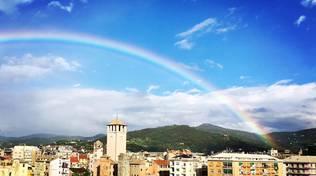 savona sole freddo nuvole arcobaleno