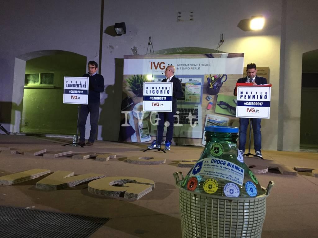 Cairo, il dibattito tra i candidati sindaco