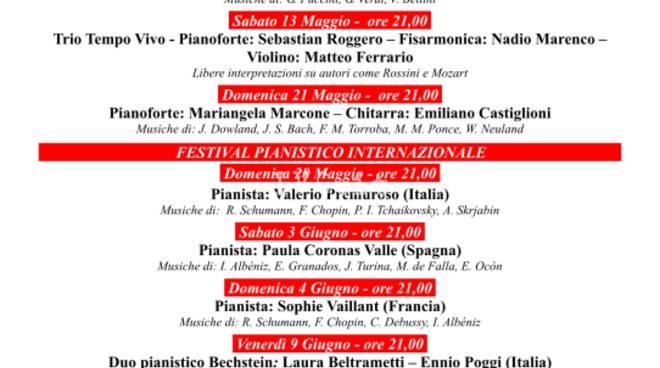 Concerti di Primavera e Festival Pianistico Internazionale - XXIX edizione