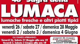 """Savona, nel prossimo week-end alla SMS F. Leginese \""""Milleluci\"""" la 48° Sagra della Lumaca"""