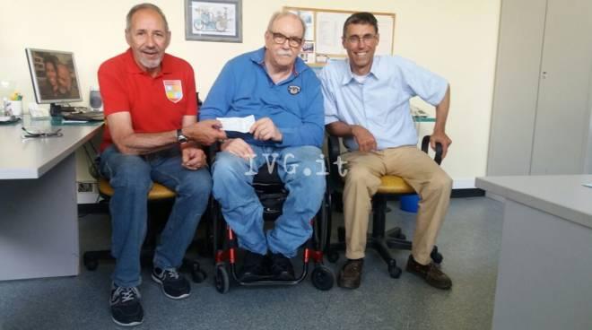 Gli Arcieri del Finale donano fondi all\'Unita\' Spinale di Santa Corona