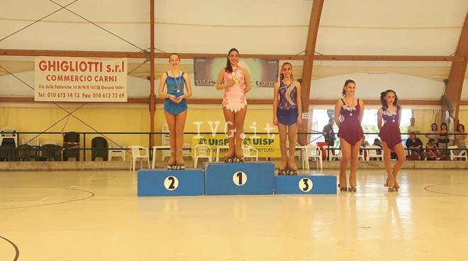 Skate Zinola 2000: Modica e Ferrando campionesse regionali UISP specialità libero