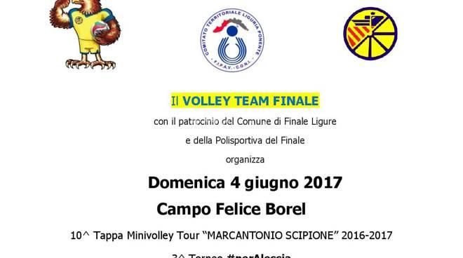 """MiniVolley: Domenica 4 Giugno \""""Tour Scipione\"""" a Finale Ligure"""