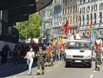 Corteo vigili del fuoco
