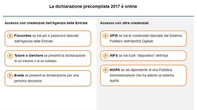 Precompilata 2017 da oggi possibile inviare online la for Dichiarazione dei redditi 2017