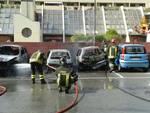 incendio auto sestri levante