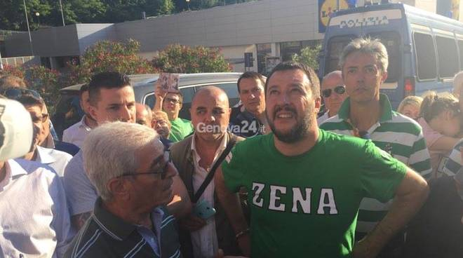 Matteo Salvini a Genova