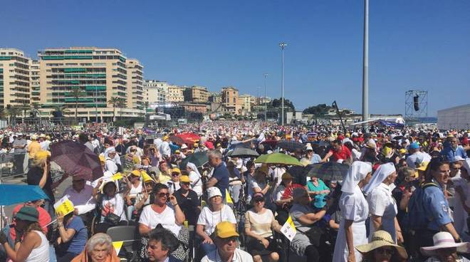 Papa a Genova: piazzale Kennedy