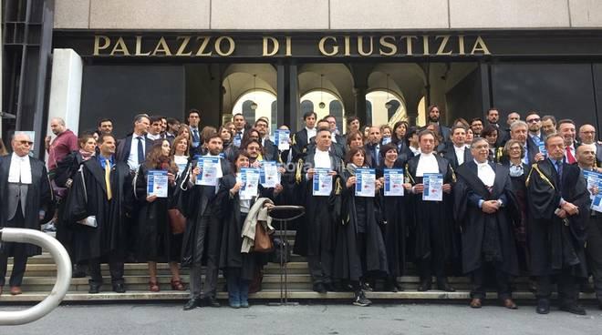 Protesta avvocati a Genova