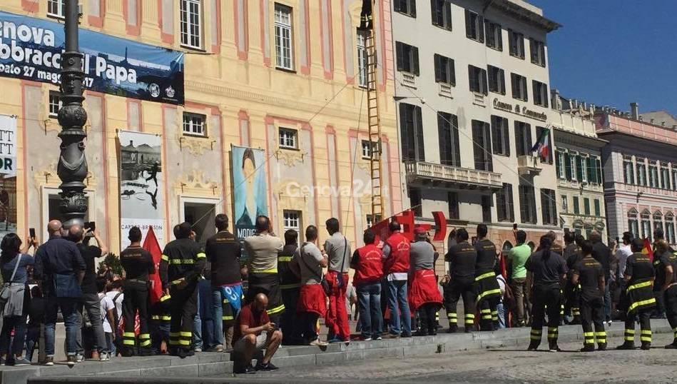 Protesta dei vigili del fuoco