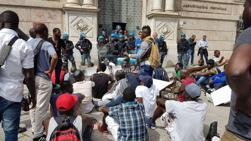 Protesta profughi