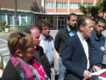 Scuola a rischio crollo ad Andora, la conferenza stampa