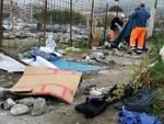 Sgombero accampamento rom a Chiavari
