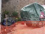 Borghetto, betoniera contro una gru a Capo Santo Spirito